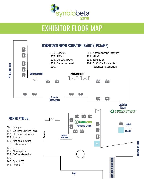 exhibitor floor map