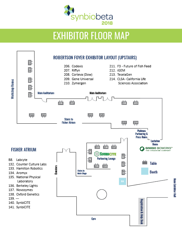 exhibitor floor map